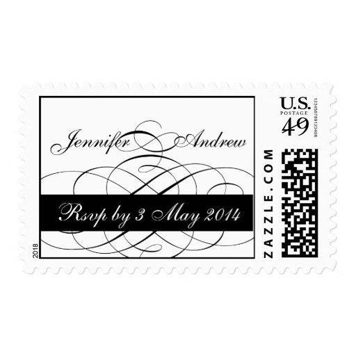 Elegant RSVP Postage Stamps for Weddings