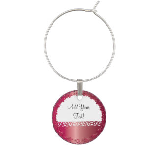 Elegant Ruby All Occasion, You Personalize it! Wine Glass Charm