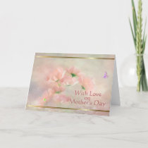 Elegant Rustic Blush Pink Floral Mother's Day Card