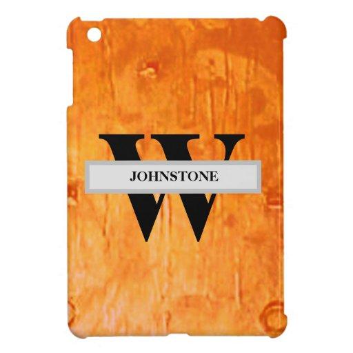 Elegant Rustic Chic Copper-toned Personalized Case For The iPad Mini