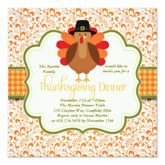 Elegant Thanksgiving Dinner Invitations Announcements Zazzle