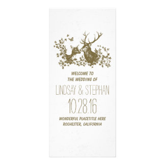 Elegant rustic deer wedding programs