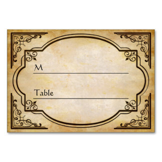 Elegant Rustic Distressed Wedding Table Cards