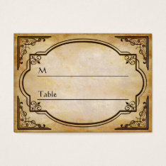 Elegant Rustic Distressed Wedding Table Place Card at Zazzle