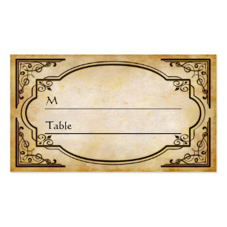 Elegant Rustic Distressed Wedding Table Place Card Business Card Template