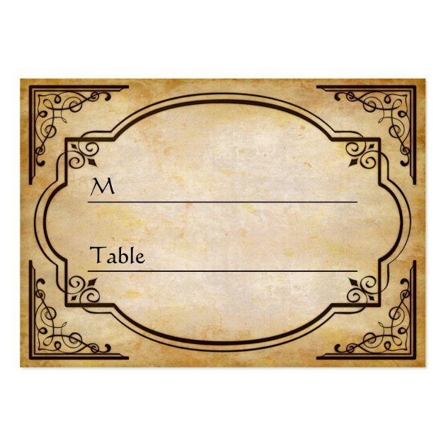 Elegant Rustic Distressed Wedding Table Place Card Large Business Cards Pack Of 100
