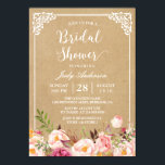 """Elegant Rustic Floral Frame Kraft   Bridal Shower Card<br><div class=""""desc"""">================= ABOUT THIS DESIGN ================= Elegant Rustic Floral Frame Kraft   Bridal Shower Invitation. (1) All text style, colors, sizes can be modified to fit your needs. (2) If you need any customization or matching items, please feel free to contact me. (In case you didn&#39;t get my response, please check...</div>"""