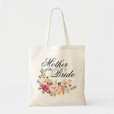 Precious_Presents Elegant Rustic Floral Mother of the Bride Tote Bag