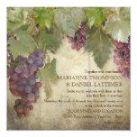 Elegant Rustic Vineyard Winery Fall Wedding 5.25x5.25 Square Paper Invitation Card