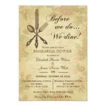 Elegant Rustic Vintage rehearsal dinner invites