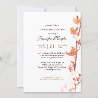 Elegant Rustic Virtual Bridal Shower Invitation