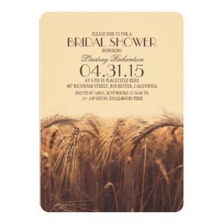 elegant rustic wheat bridal shower invitations