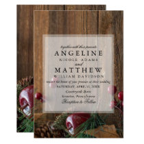 Elegant Rustic Winter Wedding Invite