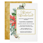 Elegant Rustic Winter Wonderland Baby Shower Invitation