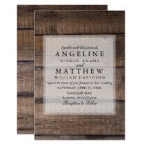 Elegant Rustic Wooden Pallet Wedding Invitation