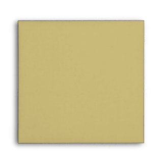 Elegant Sage Green and Gold Linen Envelopes