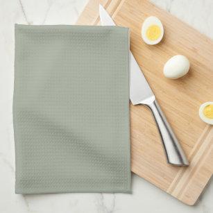 Elegant Sage Green Monogram Kitchen Towel