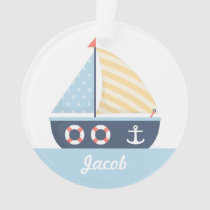 Elegant Sail boat Nautical Theme For Boys Room Ornament