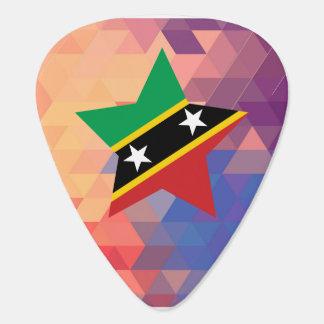 Elegant Saint Kitts and Nevis flag heart Guitar Pick
