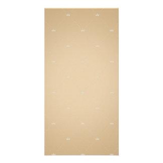 Elegant sandal brown checkered pattern photo card template