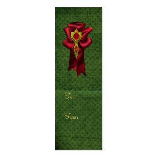 Elegant Satin Bow with Jewel - Gift Tag Mini Business Card