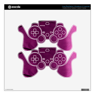 Elegant Satin Silk Fabric Look - Add your text Decal For PS3 Controller