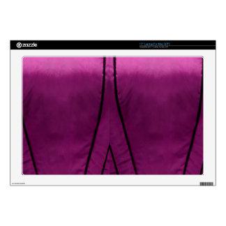 Elegant Satin Silk Fabric Look - Add your text Laptop Decal