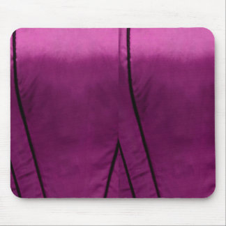 Elegant Satin Silk Fabric Look - Add your text Mouse Pad