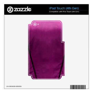 Elegant Satin Silk Fabric Look - Add your text Skins For iPod Touch 4G