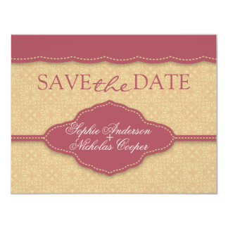 "Elegant Save the Date card 4.25"" X 5.5"" Invitation Card"