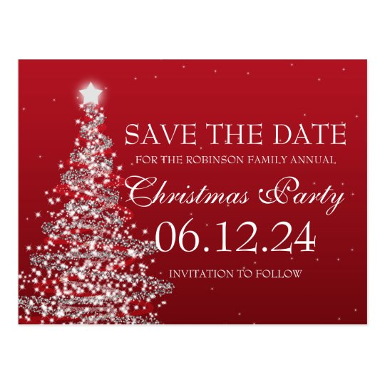 save outlook email as template - elegant save the date christmas party red postcard zazzle