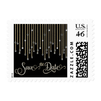 Elegant Save The Date Diamond Wedding Postage