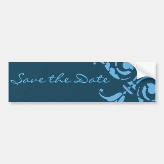 Elegant Save The Date Floral Design Bumper Sticker