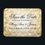"Elegant Save The Date Gold Glitter Lights Magnet<br><div class=""desc"">Elegant wedding &quot;Save The Date&quot; design with Gold Glitter Lights,  and custom names and date text.</div>"