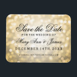 "Elegant Save The Date Gold Glitter Lights Magnet<br><div class=""desc"">Elegant wedding &quot;Save The Date&quot; design with Gold Glitter Lights,  and custom names and date text.</div>"