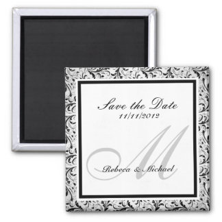 Elegant Save the Date Monogram Magnets