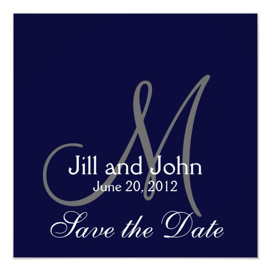 Elegant Save the Date Navy Wedding Announcement