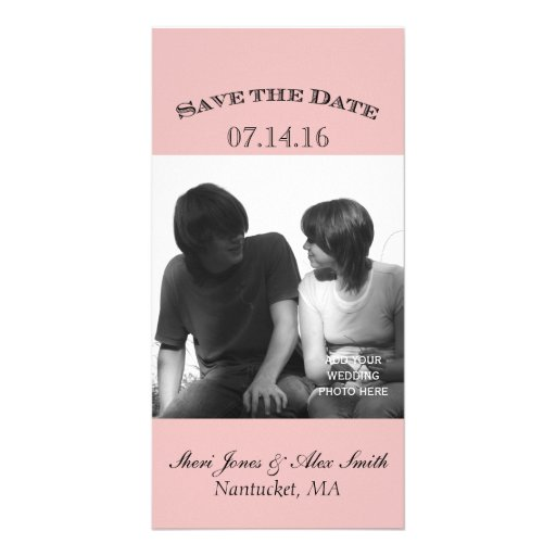 Elegant Save the Date Photo Cards Pink