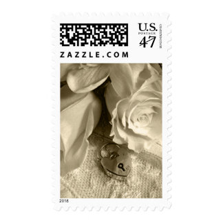Elegant Save The Date Postage Stamps