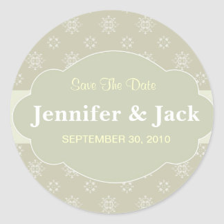 Elegant Save The Date Sticker