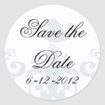 Elegant Save the Date Stickers
