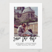 Elegant Save the Date | Typography and Photo
