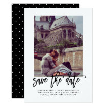 Elegant Save the Date | Typography and Photo Card