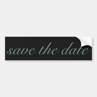 Elegant Save The Date Vines Black and Blue Bumper Sticker