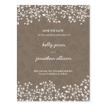 Elegant Save the Date Wedding Invitation Postcard