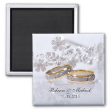 Elegant Save the Date Wedding Magnets