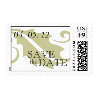 Elegant Save the Date Wedding Postage Stamps