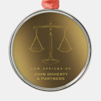 Elegant Scales of Justice | Law Gifts Metal Ornament