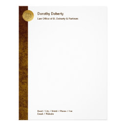 Elegant Scales of Justice LAW OFFICE Letterhead