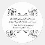 Elegant Sconce Address Sticker